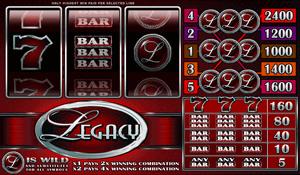 Legacy 5 Reel Slot